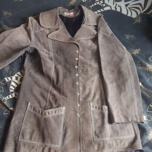 Jackets & Blazers - Genuine leather vintage coat
